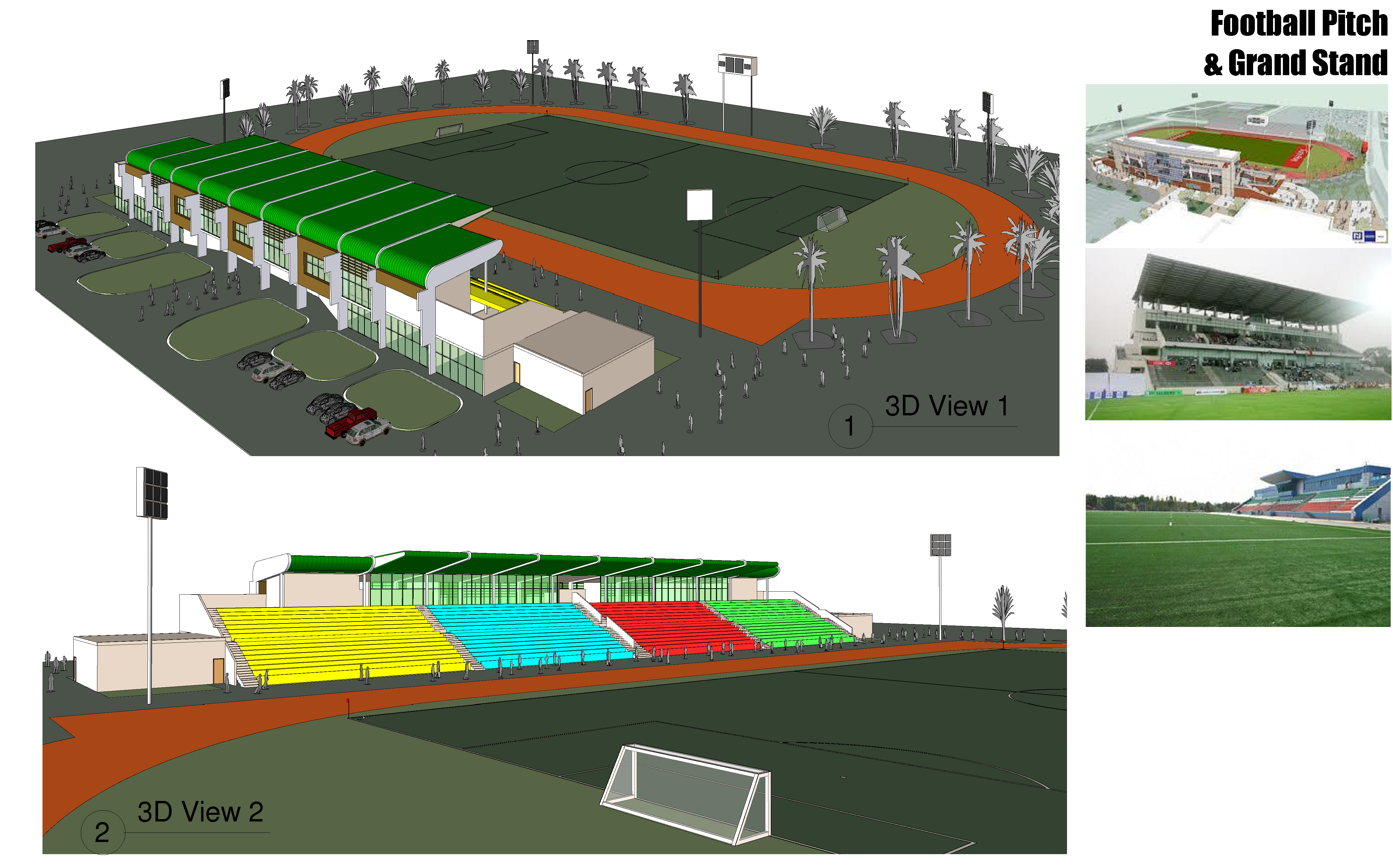 Football Pitch & Grand Stand